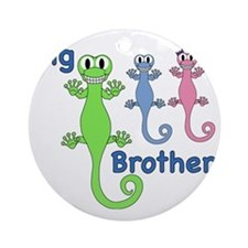 Big Brother of Boy/Girl Twins Round Ornament
