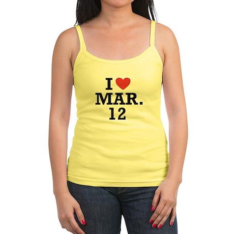 I Heart March 12 Jr. Spaghetti Tank