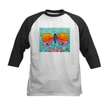 Pink and Orange butterfly Tee