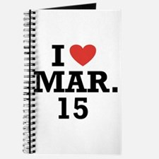 I Heart March 15 Journal
