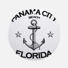 Panama City Beach copy Round Ornament