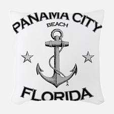 Panama City Beach copy Woven Throw Pillow