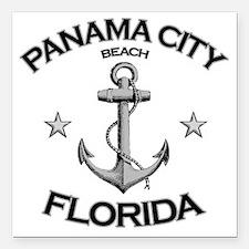 "Panama City Beach copy Square Car Magnet 3"" x 3"""