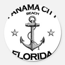 Panama City Beach copy Round Car Magnet