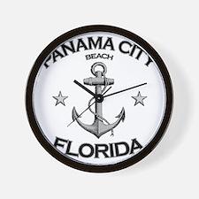 Panama City Beach copy Wall Clock
