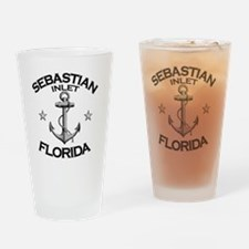 SEBASTIAN INLET FLORIDA copy Drinking Glass