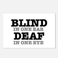 BLIND IN ONE EAR - DEAF I Postcards (Package of 8)