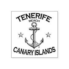 "TENERIFE BEACH CANARY ISLAN Square Sticker 3"" x 3"""