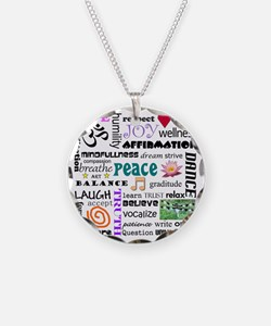 spriitual growth word collag Necklace