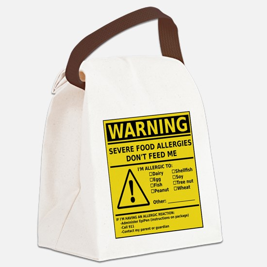 cp_warning_multi Canvas Lunch Bag