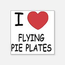 "FLYING_PIE_PLATES Square Sticker 3"" x 3"""