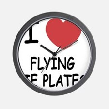 FLYING_PIE_PLATES Wall Clock