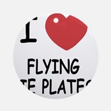FLYING_PIE_PLATES Round Ornament