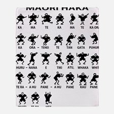 Haka 16x16 Throw Blanket