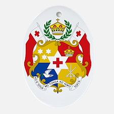 Tonga Sila Wht 16x16 Oval Ornament