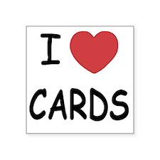 "CARDS Square Sticker 3"" x 3"""