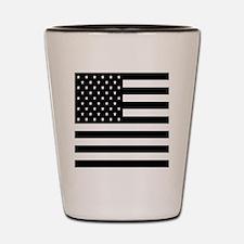 FF-flag-blackonwhite Shot Glass
