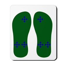 FF-bluchexongreen Mousepad