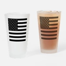 FF-flag-blackonwhite Drinking Glass