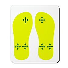FF-greenchexonyellow Mousepad