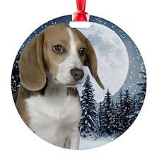 BeagleWinterMousepad Ornament