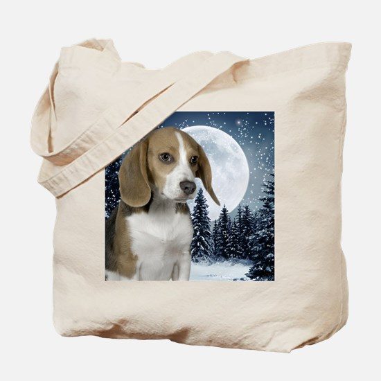 BeagleWinterMousepad Tote Bag