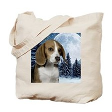 BeagleWinteriPad Tote Bag