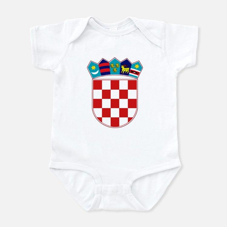 Croatia Hrvatska Emblem Infant Bodysuit