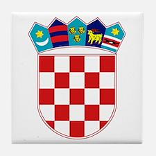 Croatia Hrvatska Emblem Tile Coaster