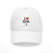 I Heart April 1 Baseball Baseball Cap