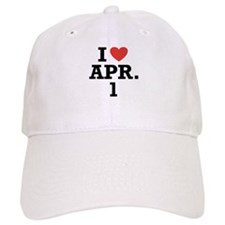 I Heart April 1 Baseball Cap