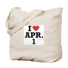 I Heart April 1 Tote Bag