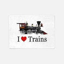 I LOVE TRAINS_SM_copy 5'x7'Area Rug