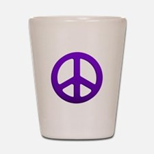 Purple Fade Peace Sign Shot Glass