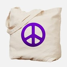 Purple Fade Peace Sign Tote Bag