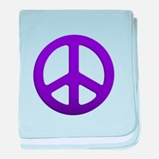 Purple Fade Peace Sign baby blanket