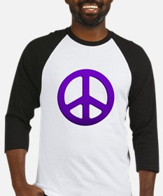 Purple Fade Peace Sign Baseball Jersey