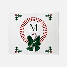 Polka Dots Christmas Wreaths Throw Blanket