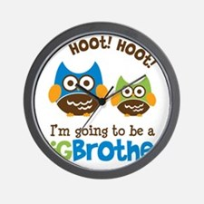 HootHootBigBrotherToBe Wall Clock