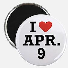"""I Heart April 9 2.25"""" Magnet (100 pack)"""