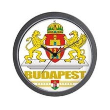 Budapest COA (Flag 10) Wall Clock