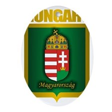 Hungarian Gold Oval Ornament