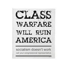 class_warfare Throw Blanket