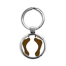 brownfeet Round Keychain