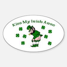 Kiss My Irish Arse Oval Decal