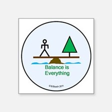 """Our World - Balance is Ever Square Sticker 3"""" x 3"""""""