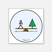 """Create Balance in Our World Square Sticker 3"""" x 3"""""""