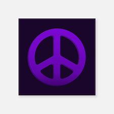 Purple Fade Peace Sign Sticker