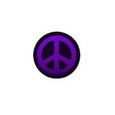 Purple Fade Peace Sign Mini Button (10 pack)