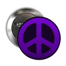 """Purple Fade Peace Sign 2.25"""" Button"""